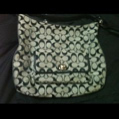 HP Coach gray purse with black C's Blk and gray Coach Bags