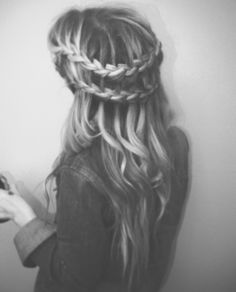Double water fall braid with curls are super cute!!