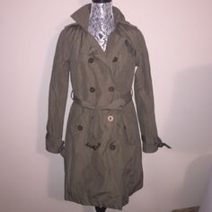 NWOT Forever 21 Olive Green Trench Coat Sz. Large NWOT trench coat from forever 21. Puppy-loving smoke-free home. Sorry-no trades :) 20-% discount if you bundle two or more items!   Happy Shopping!  Forever 21 Jackets & Coats Trench Coats