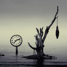 How can we use physical pictures of time, to convey a meaning? The title of this work is suspended in time