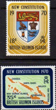 British Solomon Islands 1970 Red Cross Set Fine Mint SG 197/8 Scott 210/1 Condition Fine Other Solomon Island Stamps HERE