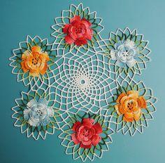 Crochet Mat, Baby Blanket Crochet, Crochet Crafts, Crochet Doilies, Embroidery Stitches, Diy And Crafts, Decorative Plates, Crochet Patterns, Crocheting
