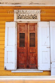 Gorgeous Creole architecture in the Dominican Republic.  doors. travel. doors of the world