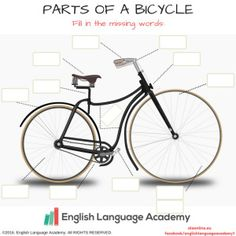 1st grade science worksheets | Label the Bicycle