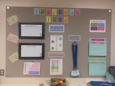 """Yearbook Organization:  I created this wall as a main """"Hub"""" for my Yearbook staffers to use!  LOVE it!"""