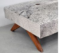 Pierre Jeanneret Day bed, ca. Vintage Furniture, Furniture Design, Papercrete, Pierre Jeanneret, Daybeds, Paperclay, Le Corbusier, Chandigarh, Benches