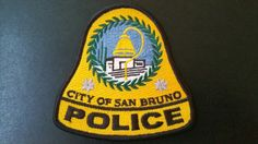 San Bruno Police Patch, San Mateo County, California (Current 1992 Issue)
