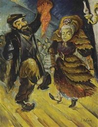 Dancing couple by Issachar Ber Ryback