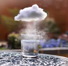 miniature clouds! photography by sarah ann wright. how to inside.
