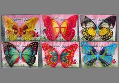 Бабочка с двойными крыльями пластиковые на магните 20см