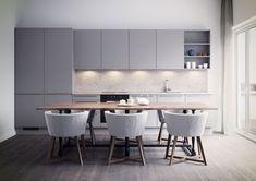 Sigdal Kjøkken - Uno Modern Bathroom Decor, Bathroom Renovations, Kitchen, Inspiration, Furniture, Home Decor, Bae, Modern, Pictures
