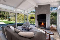 Mid-century ranch house in Montecito with indoor outdoor living