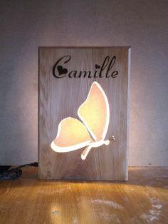lampe led papillon