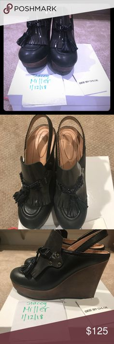 See by Chloe clogs Excellent condition and so cute! Bought at Neiman Marcus and only worn a few times. Size EU 40. See By Chloe Shoes