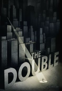 B&W poster for The Double