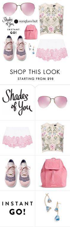 """Shades of You: Sunglass Hut Contest Entry 5"" by leiastyle on Polyvore featuring Miu Miu, MICHAEL Michael Kors, Needle & Thread, NIKE, Vera Bradley, Tory Burch and shadesofyou"