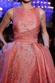 That color! Delicious! 132 details photos of Elie Saab at Couture Fall 2014.