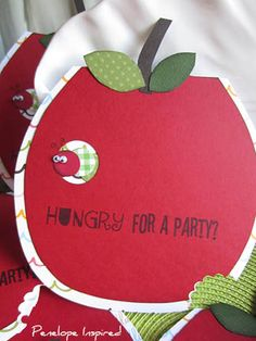 The Very Hungry Caterpillar birthday invitation~ And her name is Penelope!