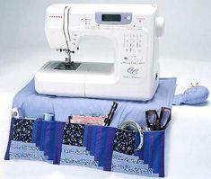Pocket Pal (Sewing Machine Caddy / Organiser / Organizer) - Tutorial by Janome. This handy accessory for the sewing machine is a definite must to store all your notions for quick and easy access. The built-in pincushion is an added convenience at your fingertips. It's a great gift idea for yourself or one of your sewing friends. http://content.janome.com/index.cfm/ProjectCenter/Project_Detail/Pocket_Pal