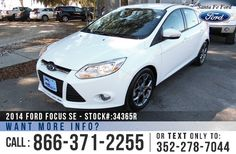 2014 Ford Focus SE - Compact Hatchback - I-4 2.0 L Engine - Remote Keyless Entry - Alloy Wheels - Spoiler - Tinted Windows - Fog Lights - Powered Windows/Locks/Mirrors/Driver Seat - Safety Airbags - Seats 5 - AM/FM/CD/SIRIUS Satellite - iPod/Aux/USB Ports - Bluetooth - SYNC by Microsoft - Digital Compass - Outside Temperature Display - Cruise Control - Ambient Lighting and more!