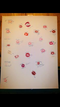 Bachelorette game have the bride guess the lips and their bedroom/marriage advice. Have the girls sign their name after ;) on smaller paper so lips are closer together. Bachlorette Party, Bachelorette Party Games, Hen Party Games, Bridesmaid Duties, Girl Sign, Wedding Games, Wedding Ideas, Bridal Shower Party, Party Guests