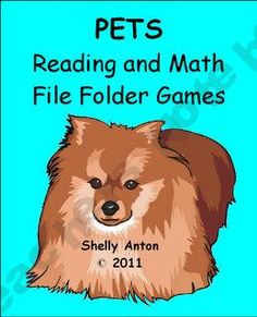 Pets File Folder Games for Basic Skills