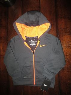 ad5168078fdb NEW NIKE THERMA FIT BOY S 3   3T HOODIE JACKET ZIPPERED GRAY  44 TAG  NIKE   HOODIEJACKET