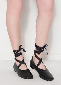 Black Ballet Flats   Frankie