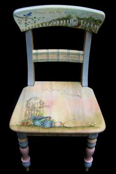 Site for ordering patterns and how to's on painting designs on chairs