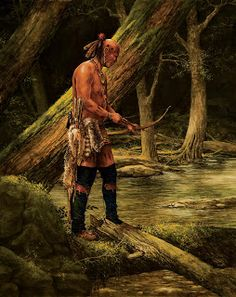 Native American tracker by Andrew Knez Jr. Native American Paintings, Native American Photos, Native American Artists, American Indian Art, Indian Paintings, American Indians, Native Indian, Native Art, Woodland Indians
