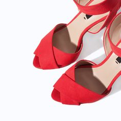 HIGH HEEL SANDAL WITH ANKLE STRAP from Zara