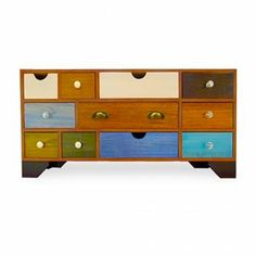 Hand Crafted Multi Coloured Sideboard - from Cult Furniture UK