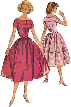 1950s Vintage Sewing Pattern: McCalls 4527