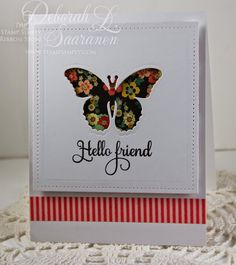 Blossom Butterfly by DeborahLynneS - Cards and Paper Crafts at Splitcoaststampers Butterfly Cutout, Butterfly Shape, Butterfly Cards, Ribbon Store, Cards For Friends, Friend Cards, Spellbinders Cards, Decorative Tape, Friendship Cards