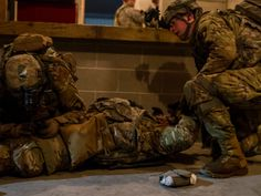 U.S Army soldiers from Alpha Company, 2nd Battalion, 506th Infantry Regiment 'White Currahee,' 3rd BCT, 101st Airborne Division (Air Assault), conducting a night time military operation in urban terrain site March 15, 2017 on Joint Base McGuire-Dix-Lakehurst, NJ, during Warrior Exercise 78-17-01.