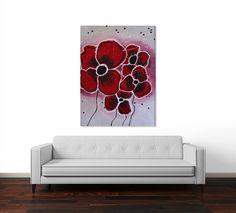 Red Flowers - Saribelle Inspirational Art