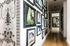 Black and white gorgeousness!! great gallery wall