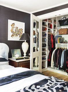 """""""I added a really big master closet by stealing the closet from a room next to it,"""" she says. """"I had California Closets come and pimp it out for me."""""""