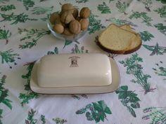 Portaburro in terracotta / Burriera in terracotta / Burriera con piattino e coperchio / Contenitore per burro beige di VintaFai su Etsy