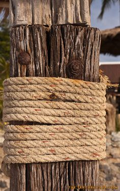 Old rope texture