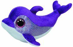 TY 36712 - Flips - Delfin mit Glitzeraugen, 15 cm, violett: Amazon.de: Spielzeug