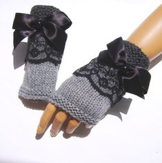 Items similar to Gray Lace Gloves Knit Gray Gloves Gray Fingerless Winter Gloves Knit lace Gloves Gray Women Mitten Women Gloves Gift For Her on Etsy Grey Gloves, Lace Gloves, Crochet Gloves, Fingerless Gloves, Lace Knitting, Knit Lace, Knitting Ideas, Hand Warmers, Gifts For Her