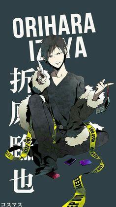 Orihara Izaya from Durarara Anime Character Names, Boy Character, Anime Characters, Girls Anime, All Anime, Anime Guys, Chica Anime Manga, Kawaii Anime, Durarara Wallpaper