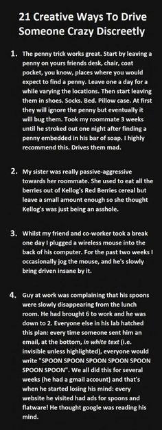 How To Drive Someone Mad… SOOO TRUE (Excuse the bad words, i did not write this)