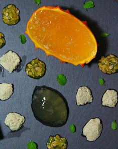 Vegan Kiwano Jelly & Almond Foam