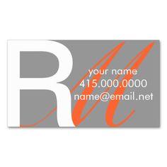 Initials Business Card