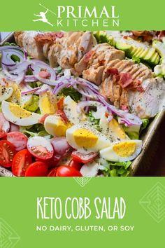 Best Salad Recipes, Easy Healthy Recipes, Low Carb Recipes, Diet Recipes, Easy Meals, Cooking Recipes, Cobb Salad Ingredients, Sin Gluten, Classic Salad