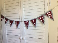 Alabama Football Roll Tide Banner Crimson on by PaperBlissByNancy