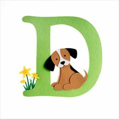 D for Deborah who loves dogs
