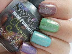 Holo Skittles using Soflajo's Champagne Cocktail http://scarletnaildiaries.blogspot.com/2012/05/holo-skittles-using-soflajos-champagne.html